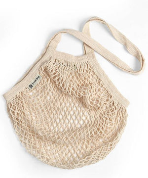 Long Handle Organic Cotton String Bag - Natural - The Weekly Shop | Plastic Free Online Shop