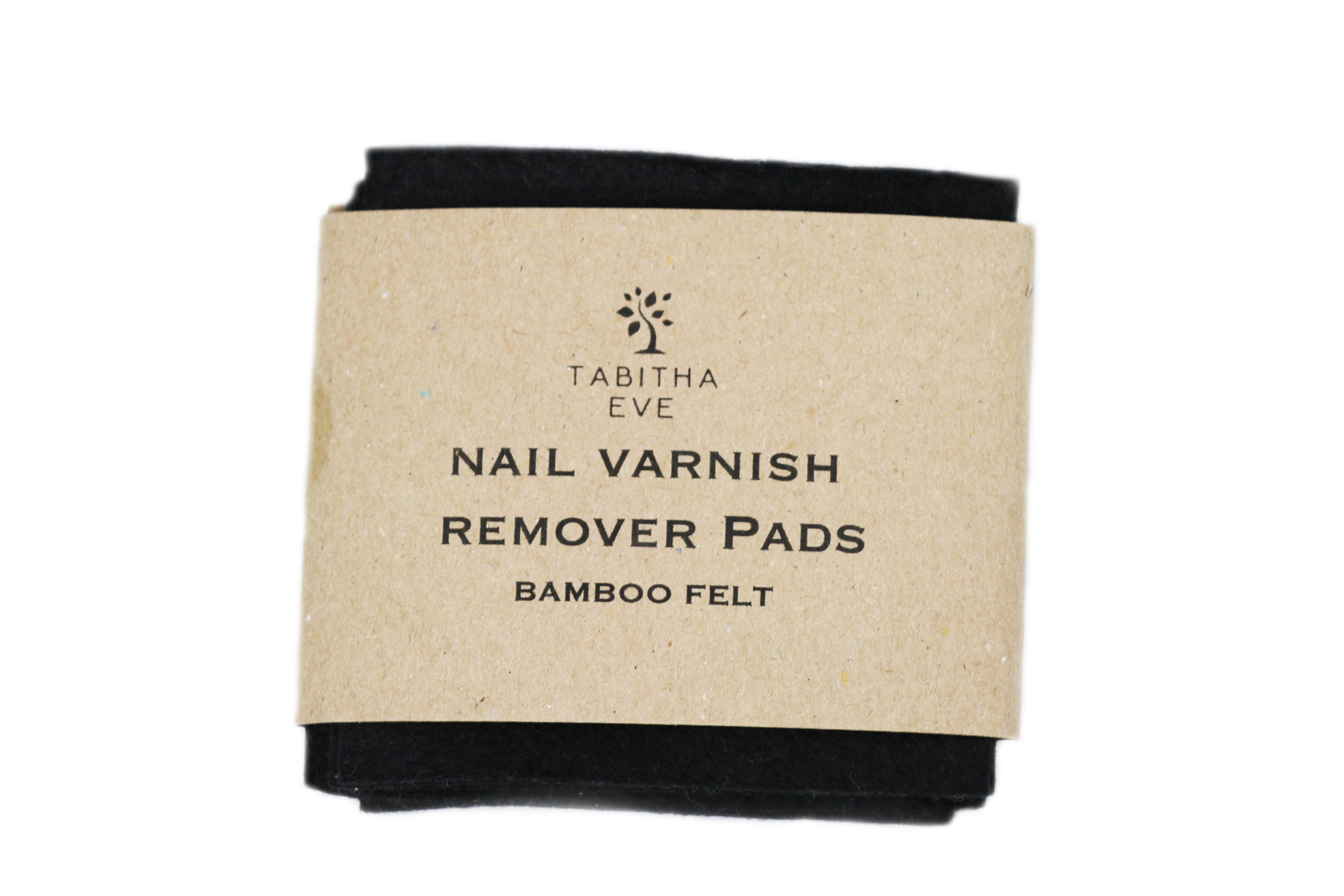 Tabitha Eve Co. Reusable Bamboo Nail Varnish Remover Pads Front View