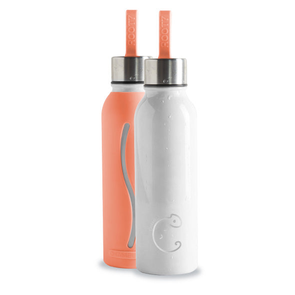 Peach 'Chameleon' Colour Changing Water Bottle