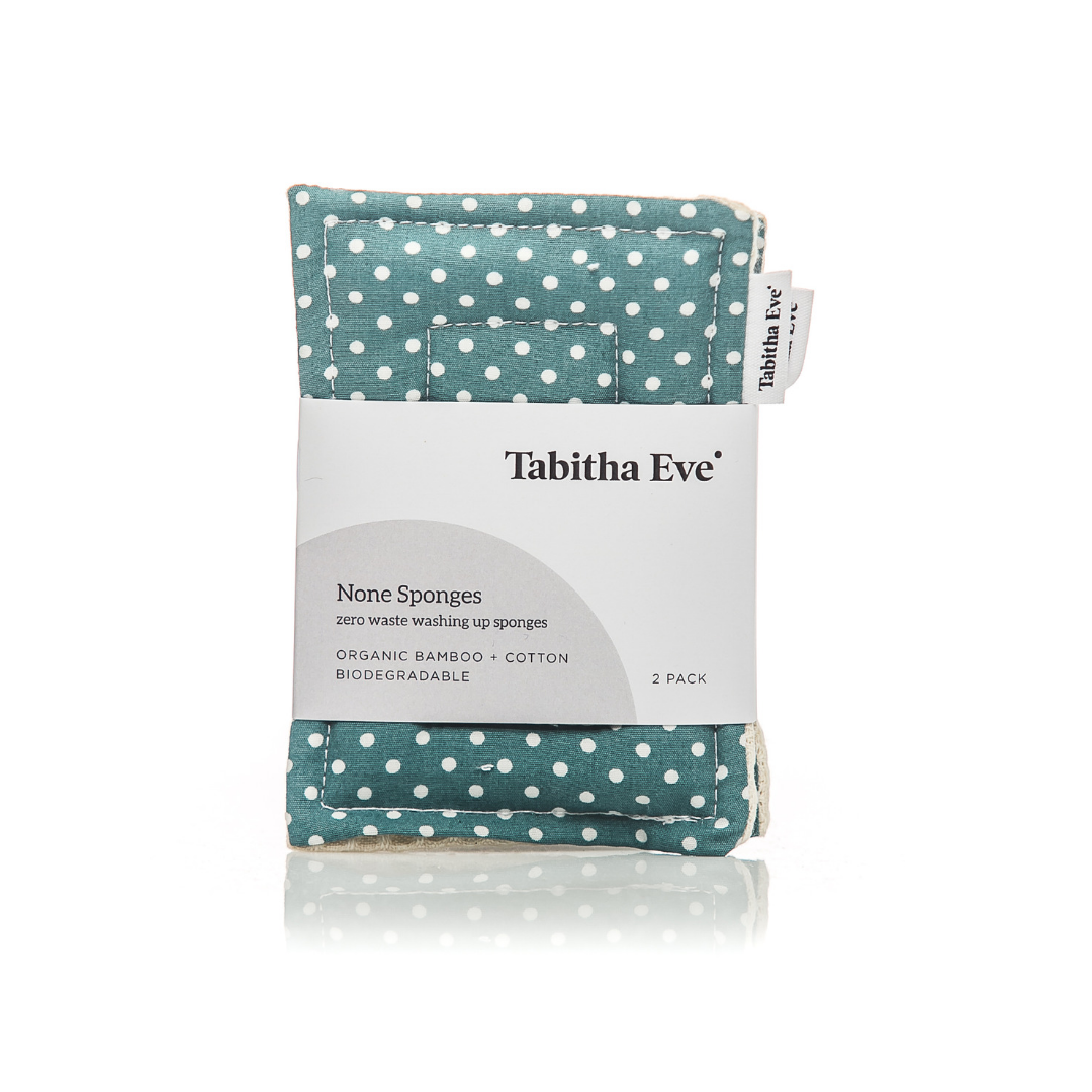 None Sponge (x 2) - Polka Dot - The Weekly Shop | Plastic Free Online Shop