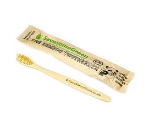 Medium Bristles Bamboo Toothbrush - The Weekly Shop | Plastic Free Online Shop