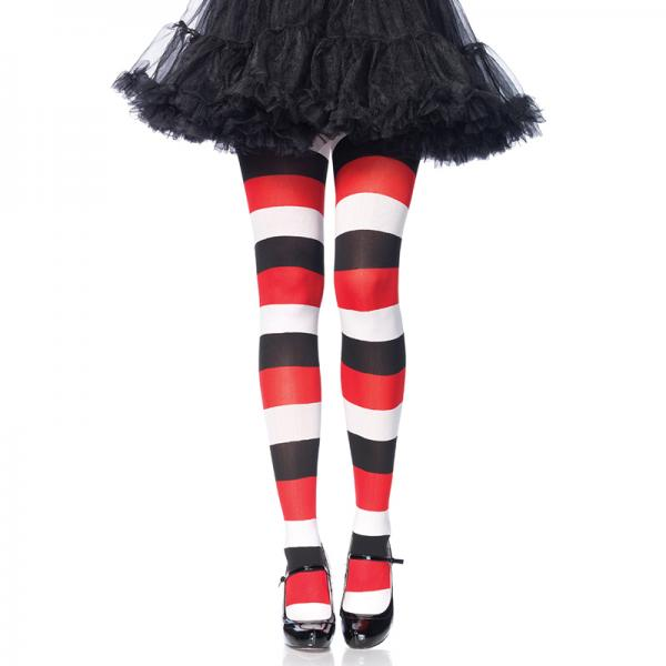 Darling Doll Opaque Striped Tights O/S Multicolor