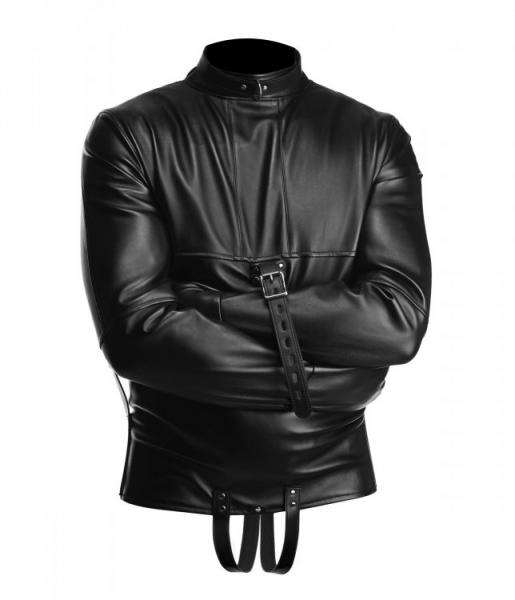 Strict Straight Jacket Black Leather