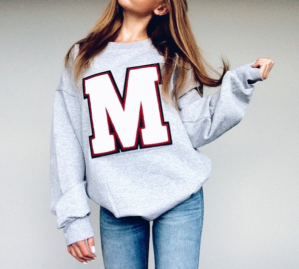 LARGE PERSONALIZED Varsity Sweatshirt MADE in CANADA Heirloom Quality