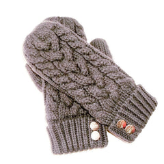 CherryT Co. Classic Cable Knit Mittens in Finnley Mist