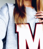 MEDIUM PERSONALIZED Varsity Sweatshirt MADE in CANADA Heirloom Quality