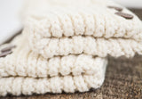 CherryT Co. Classic Cable Knit Mittens in Vintage Créme