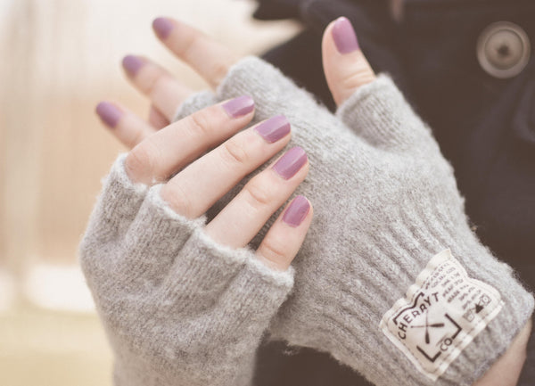 Ladies Hudson Wool Fingerless Gloves Soft Grey