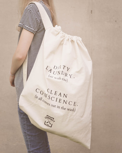 Made in Canada Natural Cotton Canvas Laundry Bag.