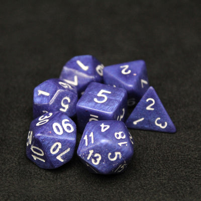 Royal Blue polyhedral DND Role playing Dice One Set of 7 | Stargazer Goods