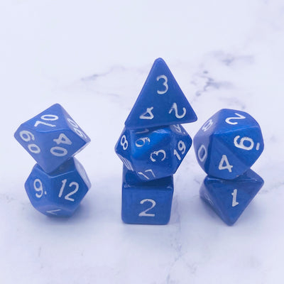Royal Blue DND Dice Stargazer Goods