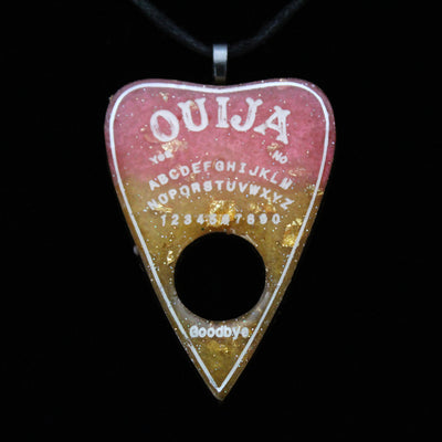 Orange Candy Corn Ouija Planchette Necklace | Stargazer Goods