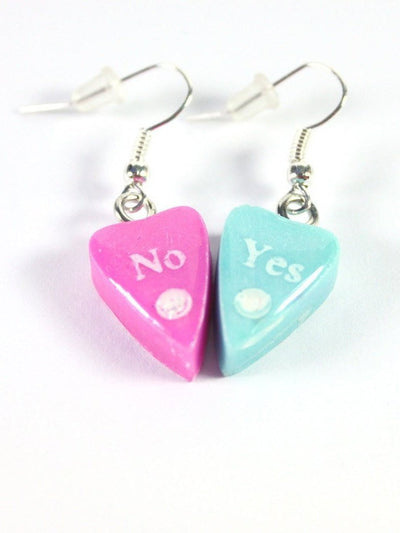 Cotton Candy Ouija Planchette Earrings - Stargazer Goods