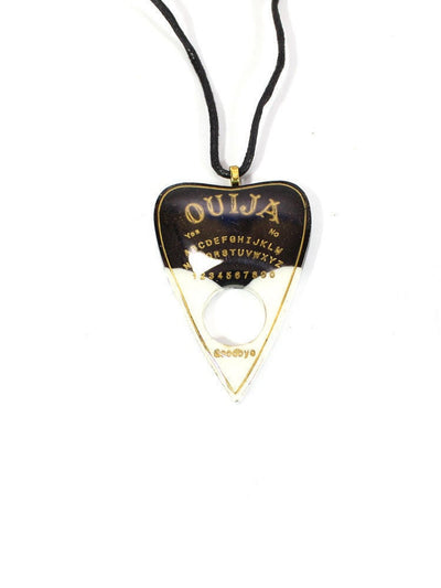 Black and White Ouija Planchette Necklace - Stargazer Goods