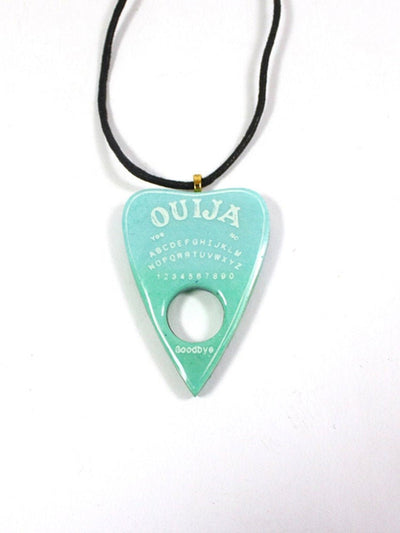 Blue and Green Ouija Planchette Necklace - Stargazer Goods
