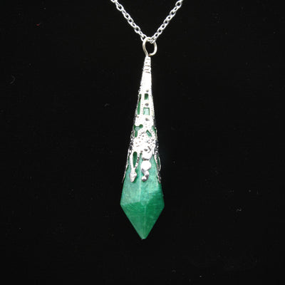 Green ornate Pendulum Necklace | Stargazer Goods