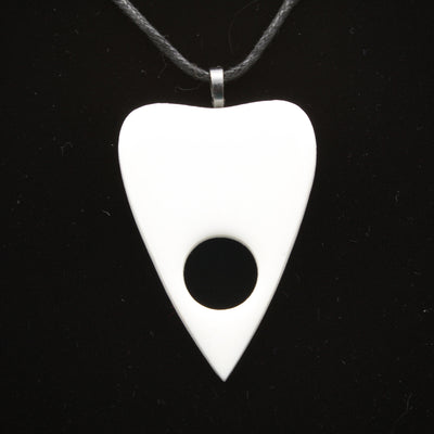 Simple White Ouija Planchette Necklace | Stargazer Goods