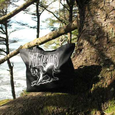 Black Panther Hand Screen Printed Tote Bag Stargazer Goods