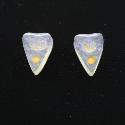 Iridescent Flake Ouija Planchette Stud Earrings | Stargazer Goods