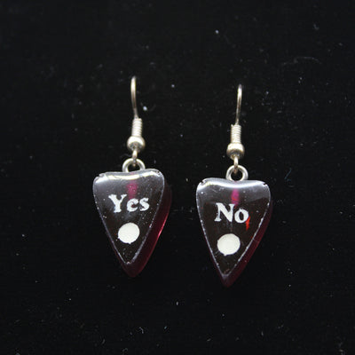 Deep Purple Ouija Planchette Wire hook Earrings | Stargazer Goods