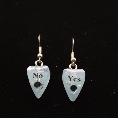 Snow Blue Ouija Planchette Wire hook Earrings | Stargazer Goods