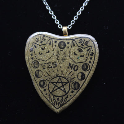 Golden Cat Planchette Necklace | Stargazer Goods