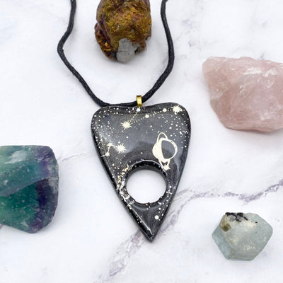 Holographic Space Ouija Planchette Necklace | Stargazer Goods