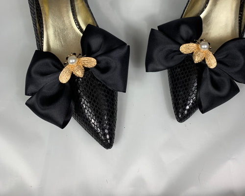 Black and Gold Shoe Clips