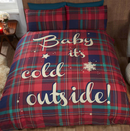 Baby It's Cold Outside Red Christmas Duvet Set