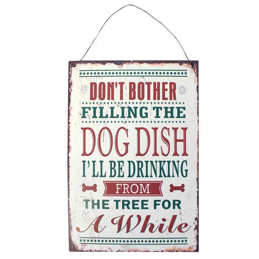 Dog Dish Christmas Sign