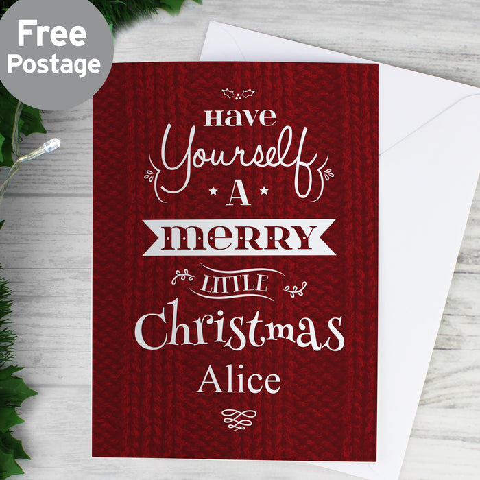 Personalised Merry Little Christmas Card