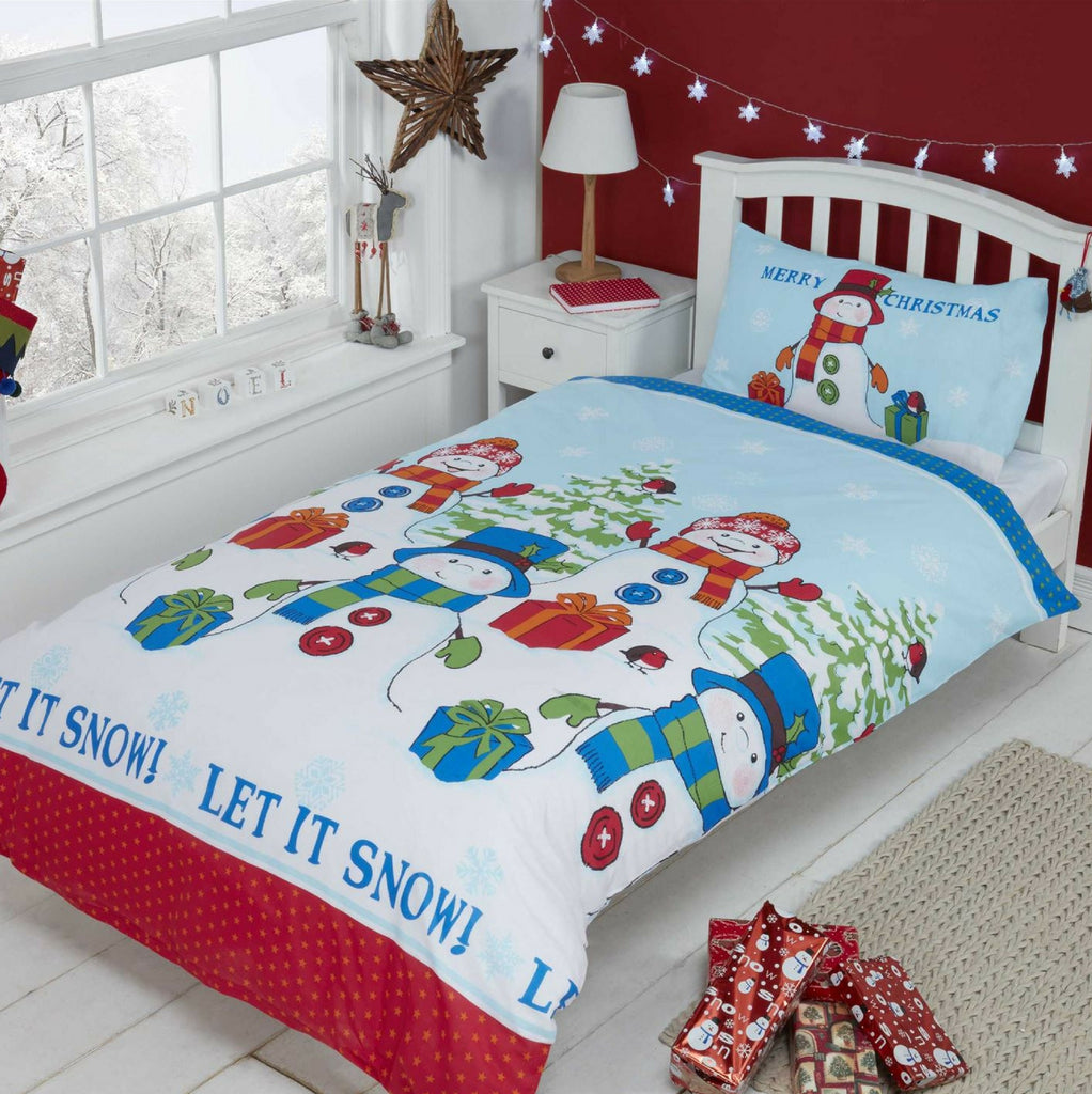 uk christmas noel bed red festive sets duvet l en quilt bedding cover contents