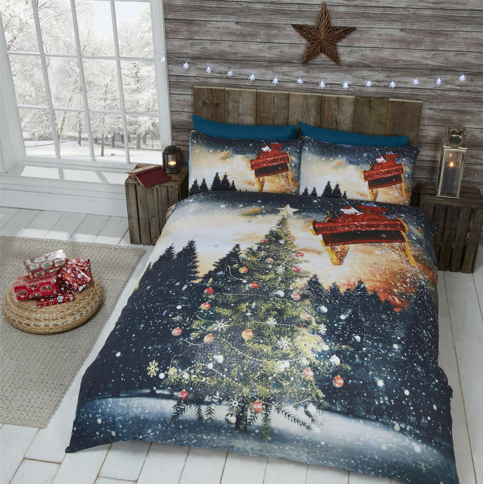 Northern Lights Christmas Duvet Set Christmas Count