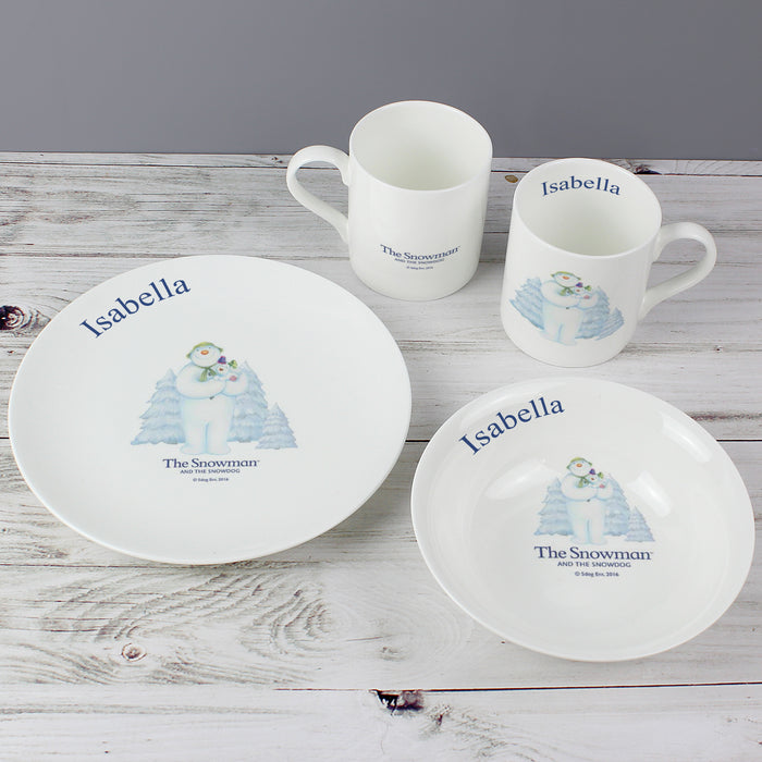 Personalised The Snowman and the Snowdog Breakfast Set