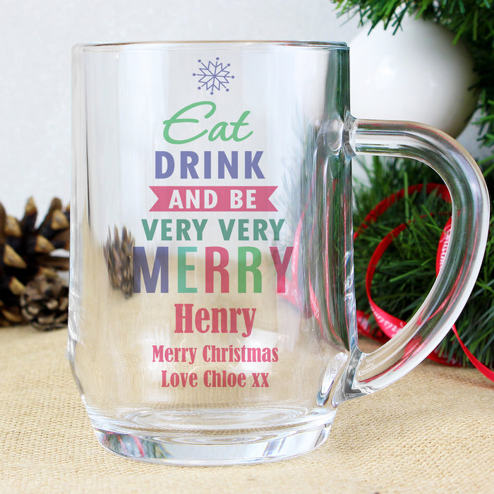 Personalised Eat Drink & Be Merry Tankard