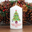 Personalised Merry Christmas Tree Candle