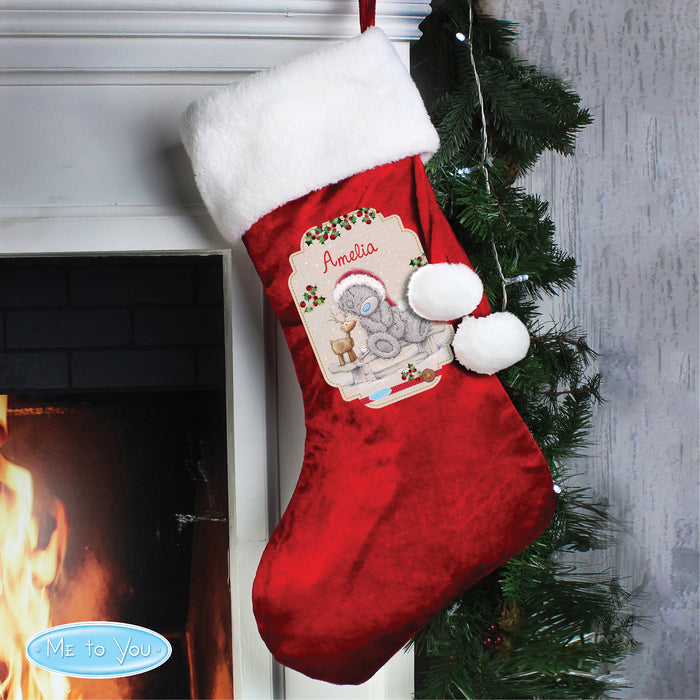 Personalised Me to You Reindeer Luxury Stocking