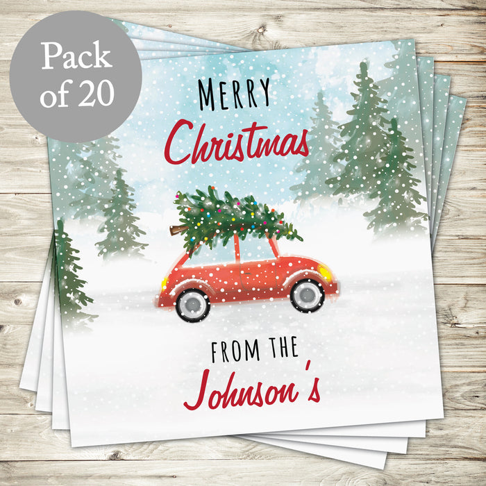 Personalised 'Driving Home For Christmas'' Pack of 20 Cards