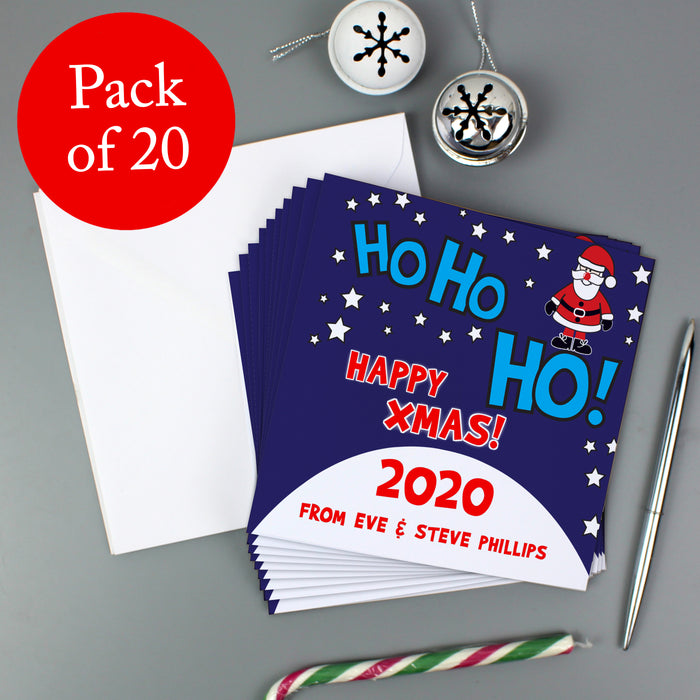 Personalised Christmas Santa Pack of 20 Invitations