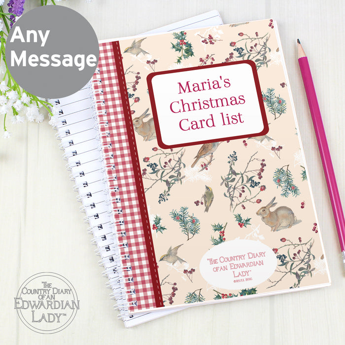Personalised Country Diary Midwinter A5 Notebook