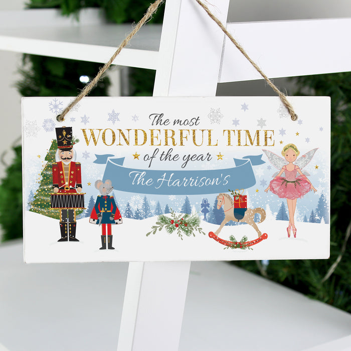 Personalised Nutcracker Wooden Sign