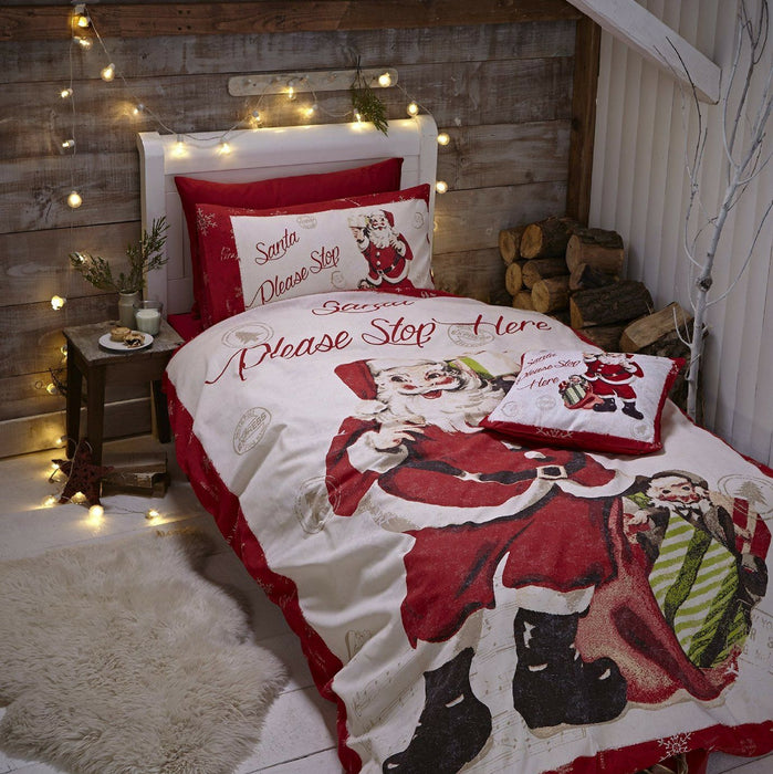 Retro Santa Christmas Duvet Set