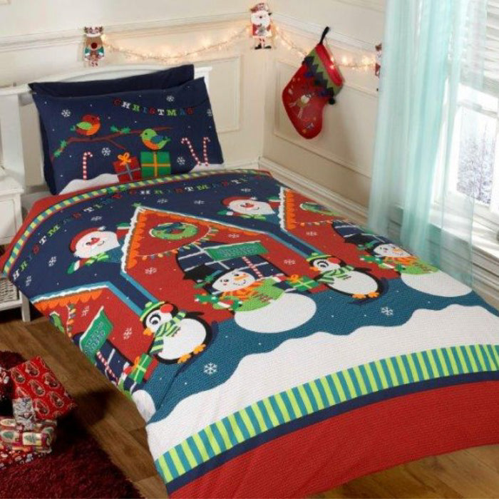 Santa's Grotto Christmas Duvet Set