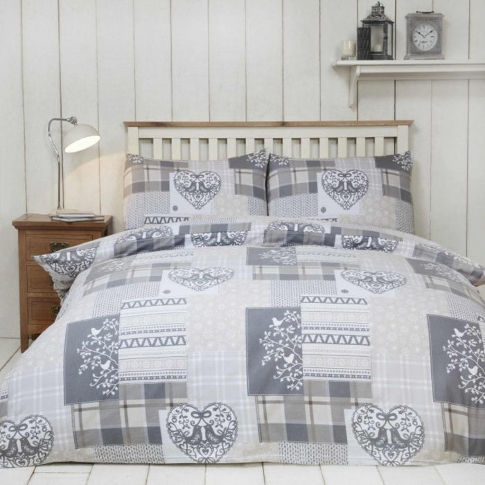 Alpine Patchwork Duvet Set Natural