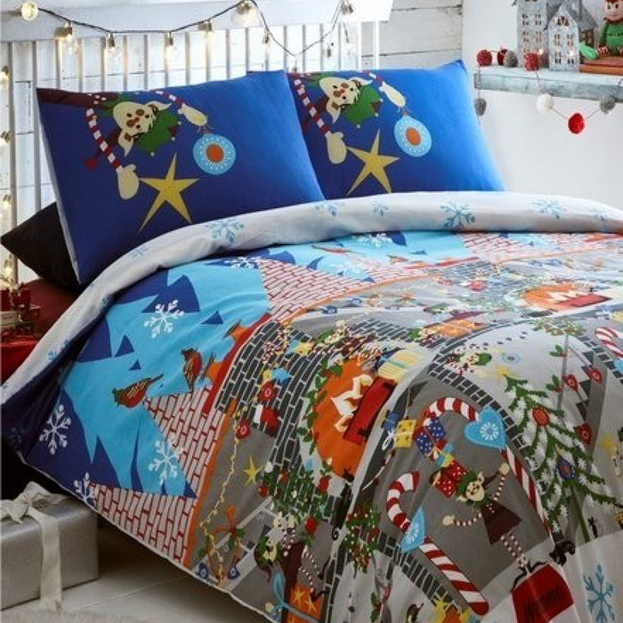 Elf Workshop Christmas Duvet Set