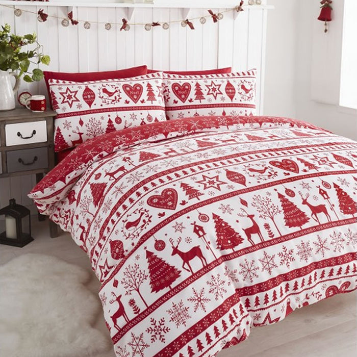 Noel Duvet Set Red