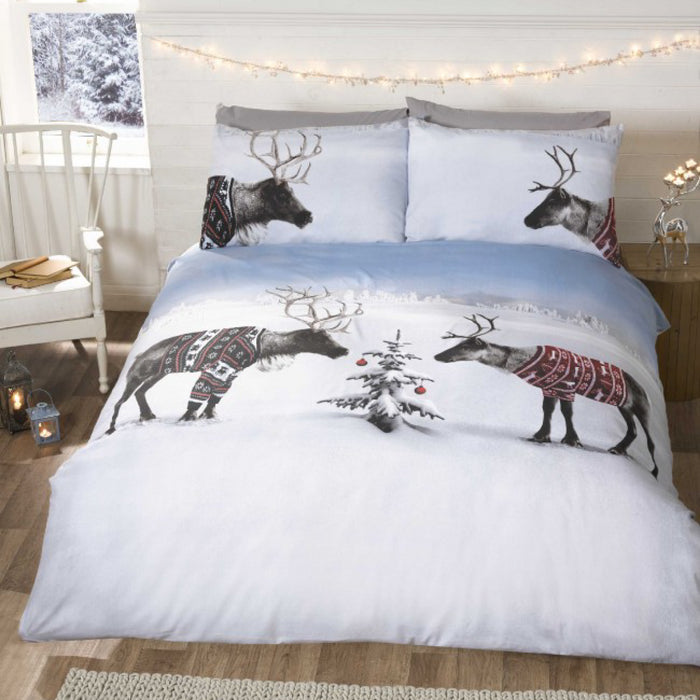 Reindeer Jumpers Christmas Duvet Set