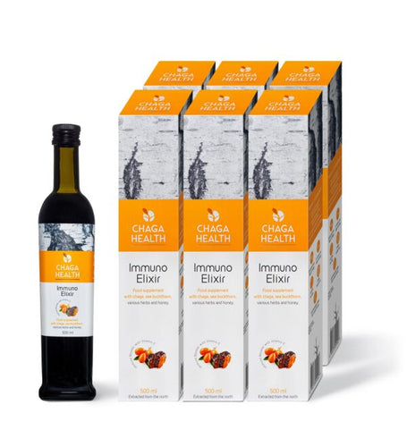 Immuno Elixir Chaga & Sea buckthorn 500ml ORGANIC (6 - $66.50/per bottle)