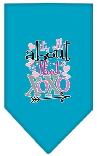 All About That Xoxo Screen Print Bandana-Valentines-Bella's PetStor