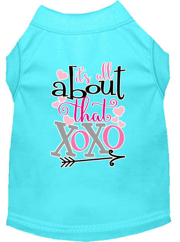 All About That Xoxo Screen Print Dog Shirt-Valentines-Bella's PetStor